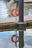 Постер, плакат: Life Buoy at a dock