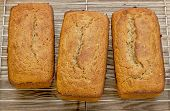 picture of flaxseeds  - loafs of freshly baked gluten free bread prepared with coconut and almond flour - JPG
