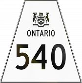 image of trapezoid  - Canadian highway shield of Ontario highway number 540 - JPG