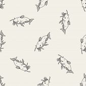 stock photo of catfish  - Catfish Doodle - JPG