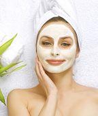 Spa Facial Mask.Dayspa concept poster