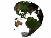 America On An Earth Globe poster