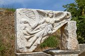 Постер, плакат: Stone Carving Of The Goddess Nike In Ancient Ephesus Turkey
