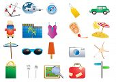 picture of monokini  - Vector illustration of holiday symbols on a white background - JPG