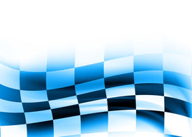 picture of race track  - racing flag abstract background composition with flowing design - JPG