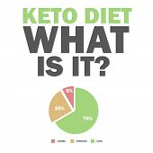 Ketogenic Diet Macros Diagram, Low Carbs, High Healthy Fat Vector Illustration For Infographic Title poster