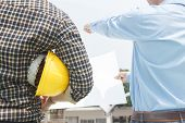 Engineers Agree To Work Together,architecture At Construction Site,consultation For Workers,engineer poster