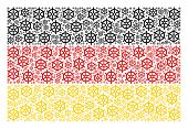 Germany State Flag Mosaic Created Of Boat Steering Wheel Design Elements. Vector Boat Steering Wheel poster