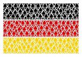 German Flag Collage Designed Of Ethereum Crystal Design Elements. Vector Ethereum Crystal Design Ele poster