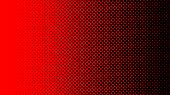 Halftone Gradient Dots Background Vector Illustration. Red Dotted, Black Halftone Texture. Pop Art B poster