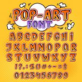 Comic Font Vector Cartoon Alphabet Letters In Pop Art Style And Alphabetic Text Icons For Typography poster