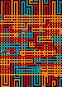 Постер, плакат: Labyrinth Texture On Color Background Abstract Vector Illustration Eps 10 Concept Psychology Crea