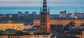 Stockholm, Sweden. Scenic View Of Stockholm Skyline At Summer Evening. Famous Popular Destination Sc poster