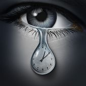 Time Anxiety Psychology And Mental Health Disorder Caused By The Fear Of Death And Being Late Or Fee poster