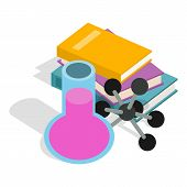 Chemistry Icon. Isometric Illustration Of Chemistry Vector Icon For Web poster