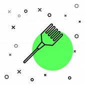 Black Line Hairbrush Icon Isolated On White Background. Comb Hair Sign. Barber Symbol. Vector Illust poster