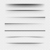 Vector Realistic Shadows.set Of Transparent Realistic Shadow. poster