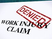 Work Injury Claim Denied Shows Medical Expenses Refused
