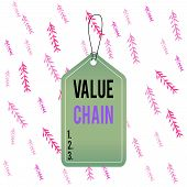 Handwriting Text Value Chain. Concept Meaning Process Or Activities By Which Company Adds Value To A poster