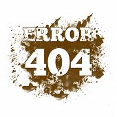 pic of not found  - Image of 404 not found with spatter - JPG