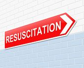 picture of resuscitation  - Illustration depicting a sign with a resuscitation concept - JPG