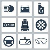 Vector Auto Parts Icons Set