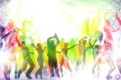 picture of groupies  - many people are dancing in a disco - JPG