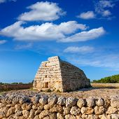 picture of megaliths  - Menorca Ciutadella Naveta des Tudons megalithic chamber tomb In Balearic islands - JPG