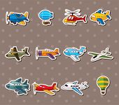 picture of hang-gliding  - Cartoon Airplane Stickers - JPG
