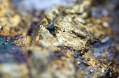 image of bronze silver gold platinum  - Abstract background from a Crystal mineral - JPG