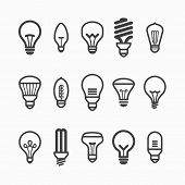 picture of fluorescence  - Light bulb icons - JPG