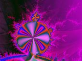 picture of mandelbrot  - Abstract rendering of the iconic Mandelbrot set in purples - JPG
