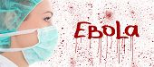 stock photo of female mask  - virus ebola concept  - JPG