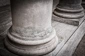 stock photo of legion  - Columns in the courtyard of the Palace of the Legion of Honor - JPG