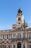 picture of old post office  - old post office building located on the central square of Madrid - JPG