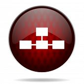 picture of cisco  - database red glossy web icon on white background  - JPG