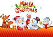 stock photo of christmas claus  - Christmas background with Santa Claus - JPG