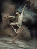picture of fine art portrait  - Fine art photo of a beautiful girl dancing - JPG