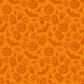stock photo of wallpaper  - Halloween vector seamless pattern - JPG
