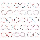 pic of infinity symbol  - Set of different infinity symbols - JPG