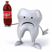 stock photo of molar tooth  - Fun tooth - JPG