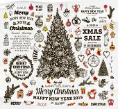 foto of xmas tree  - Christmas Decoration Collection  - JPG