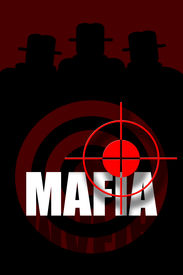 pic of gangsta  - Mafia banner with gangsters silhouette and target - JPG