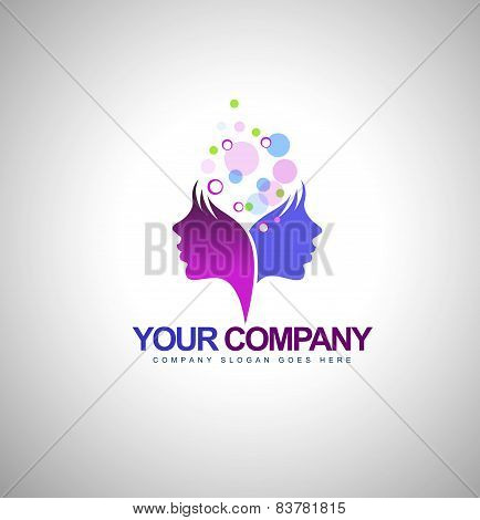 poster of Beauty Female Face Logo