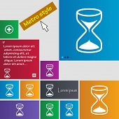 image of sand timer  - Hourglass sign icon - JPG