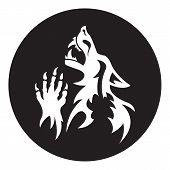 pic of werewolf  - Vector werewolf stencil - JPG