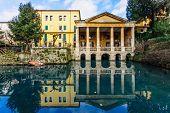 pic of vicenza  - Giardino Salvi garden and the Loggia Valmarana in Vicenza Veneto Italy - JPG