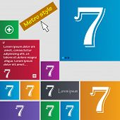picture of number 7  - number seven icon sign - JPG