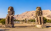 foto of pharaohs  - Colossi of Memnon  - JPG