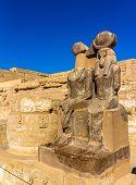 image of mortuary  - Statues of Ramses III - JPG